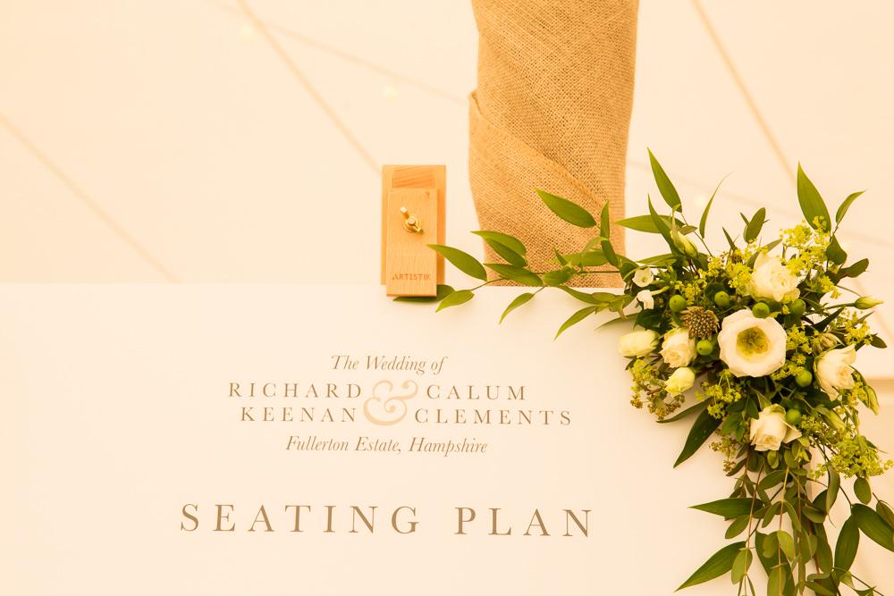 Table Plan Seating Chart Fullerton Estate Wedding Hannah Larkin Photography
