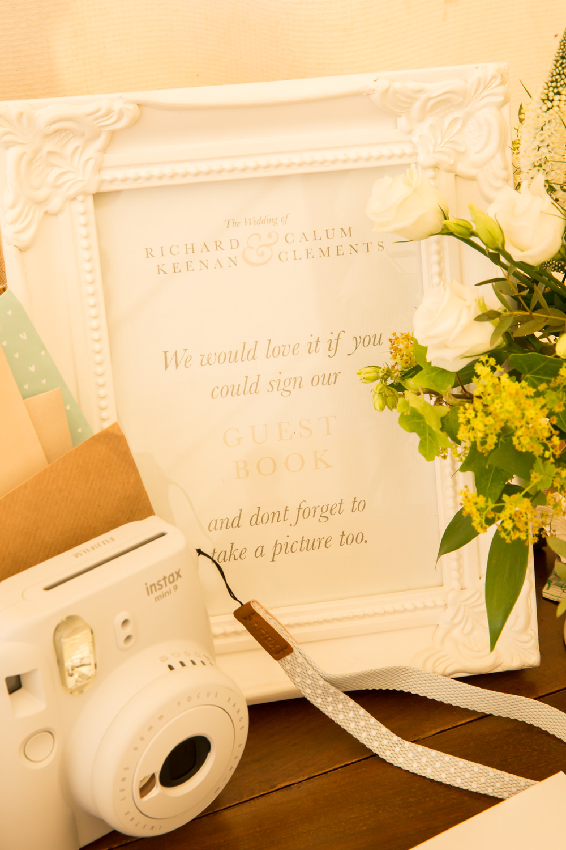 Guest Book Photo Camera Fullerton Estate Wedding Hannah Larkin Photography