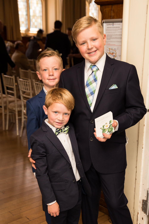Page Boys Fullerton Estate Wedding Hannah Larkin Photography