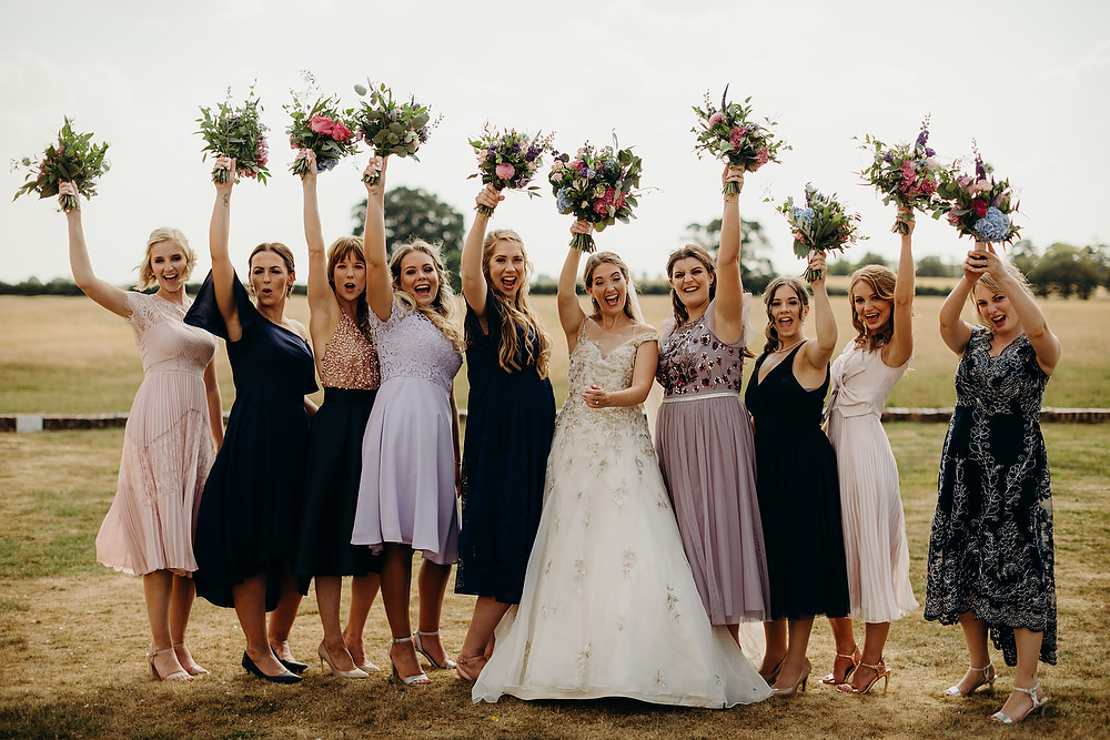 Bridesmaids Bridesmaid Dress Dresses Mismatched Purple Hornington Manor Wedding Richard Skins Photography