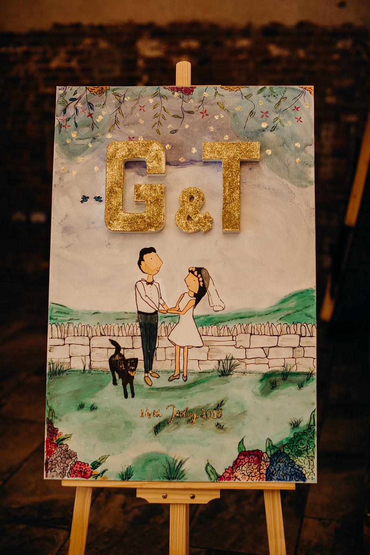 Sign Signs Signage Hornington Manor Wedding Richard Skins Photography