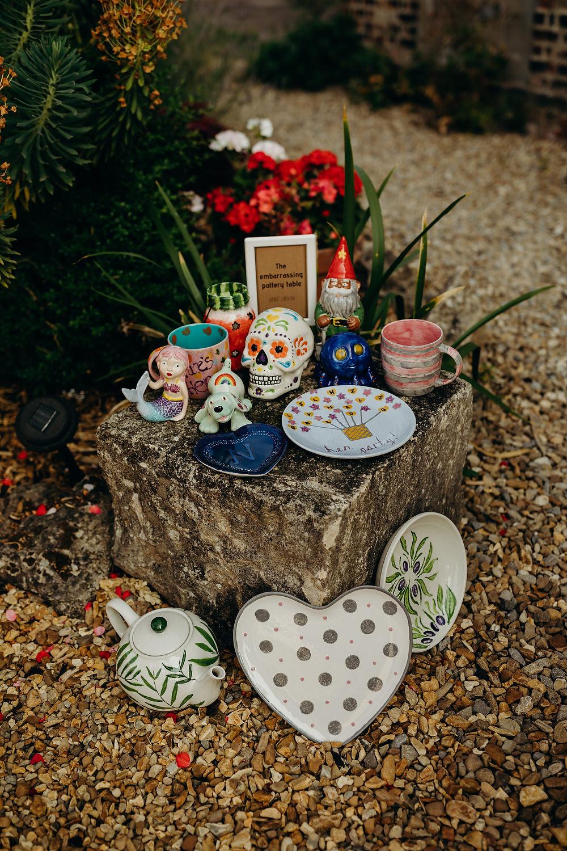 Ceremic Decor Hen Party Hornington Manor Wedding Richard Skins Photography