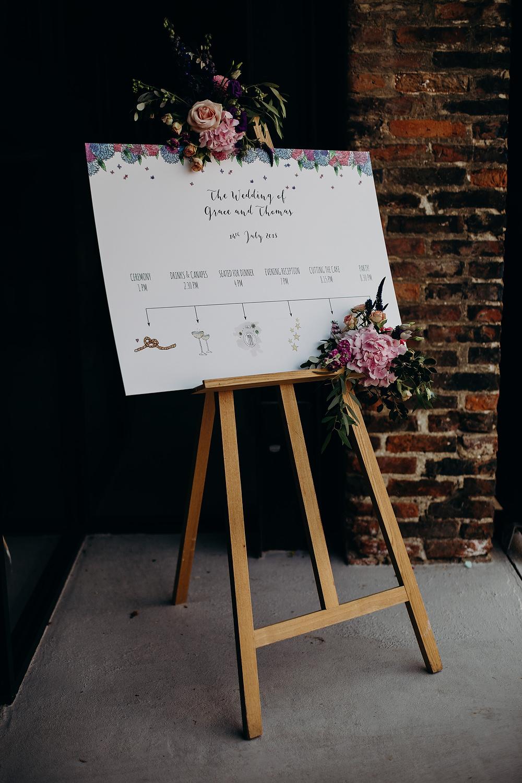 Sign Sign Signage Flowers Hornington Manor Wedding Richard Skins Photography