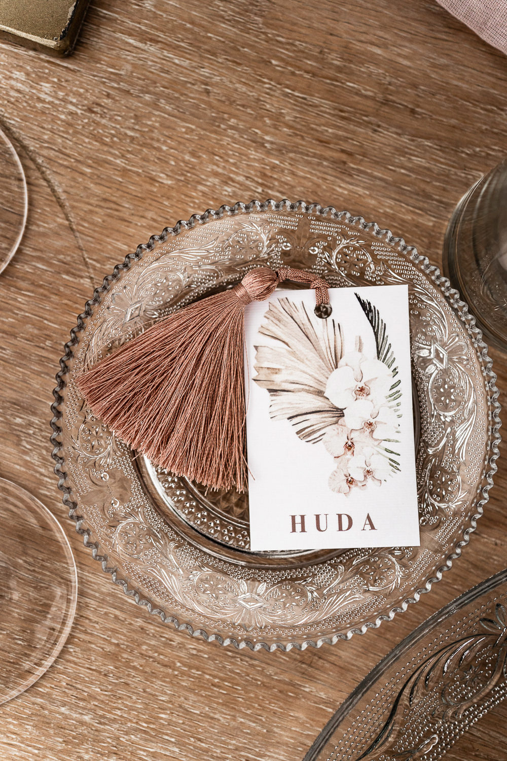 Place Name Tassel Floral Marbella Elopement Wedding Nora Photography
