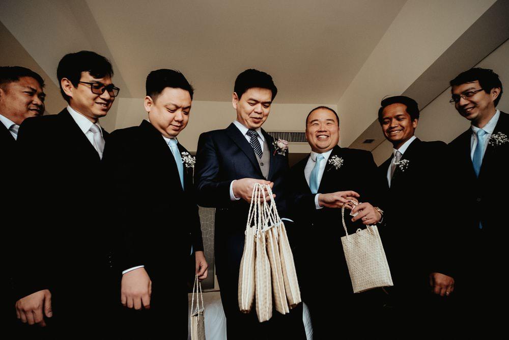Groom Suit Blue Grey Waistcoat Polka Dot Tie Groomsmen Philippines Wedding The Backyard Studios