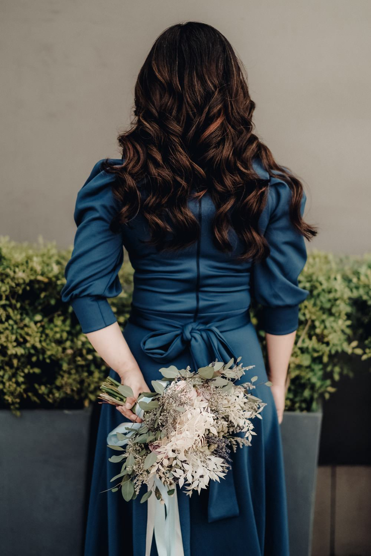 Bride Bridal Dress Gown Blue Philippines Wedding The Backyard Studios