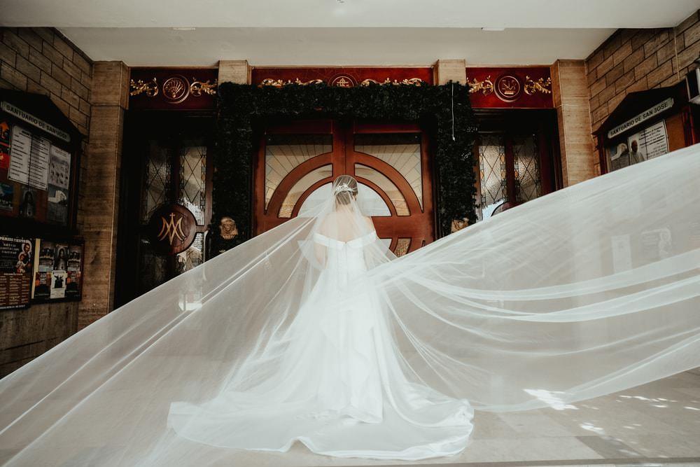 Dress Gown Bride Bridal Strapless Off Shoulder Bardot Veil Philippines Wedding The Backyard Studios