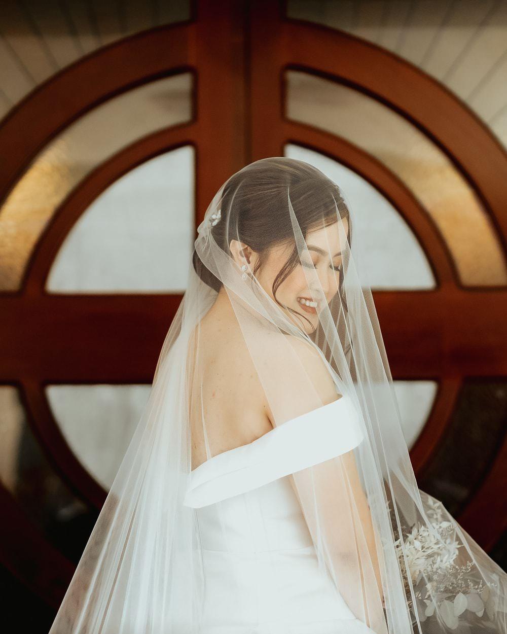 Dress Gown Bride Bridal Strapless Off Shoulder Bardot VeilPhilippines Wedding The Backyard Studios