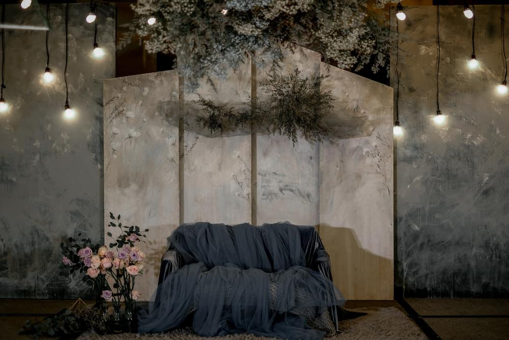 Backdrop Seating Lights Flowers Decor Philippines Wedding The Backyard Studios