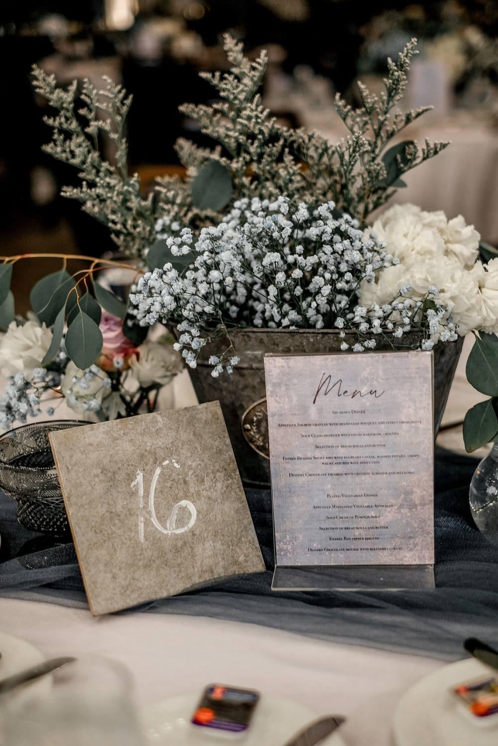 Centrepiece Flowers Decor Table Name Philippines Wedding The Backyard Studios