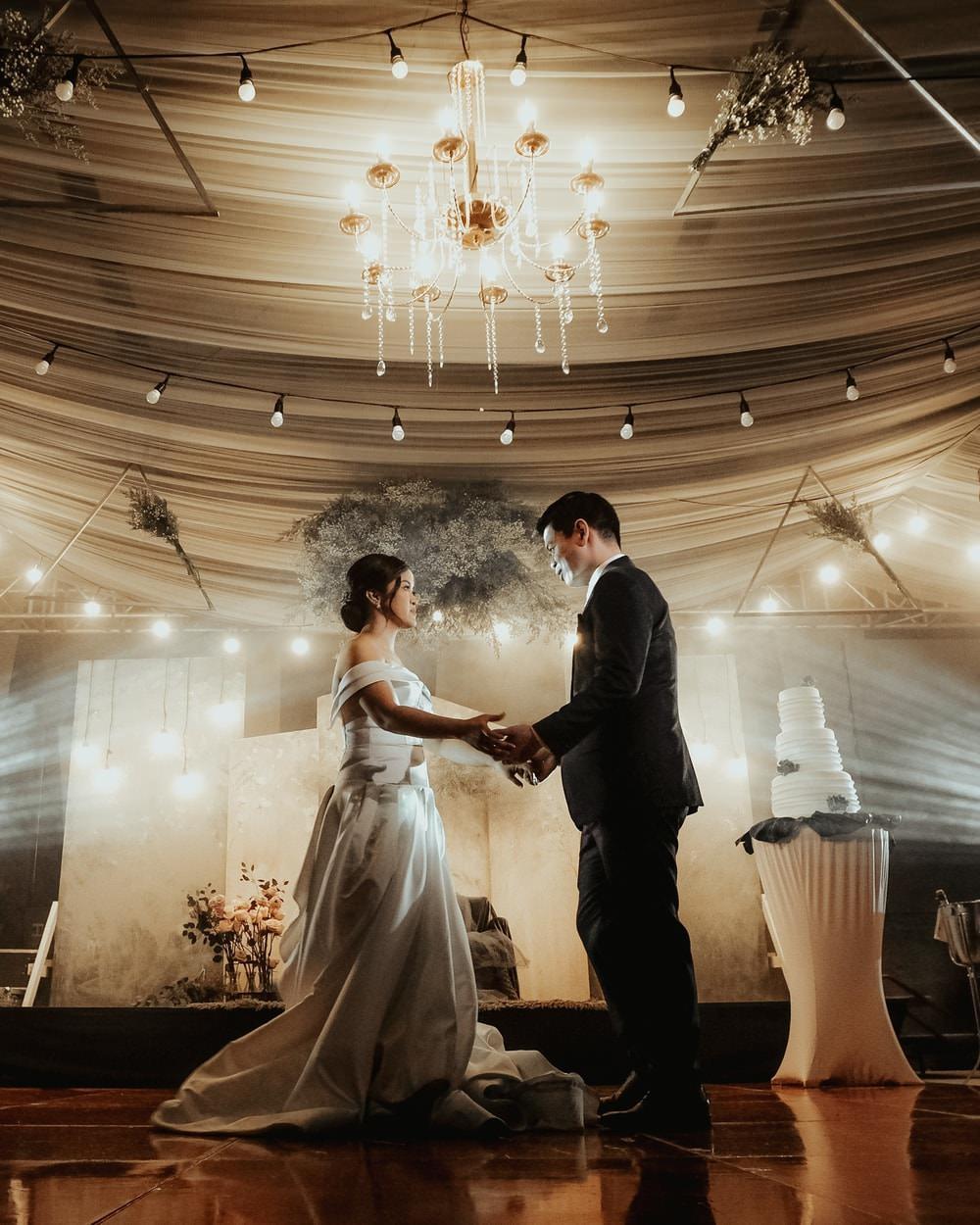 First Dance Lights Lighting Philippines Wedding The Backyard Studios