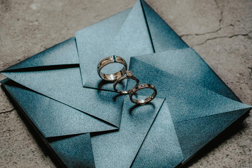 Stationery Invite Invtiations Blue Grey Rings BandsPhilippines Wedding The Backyard Studios