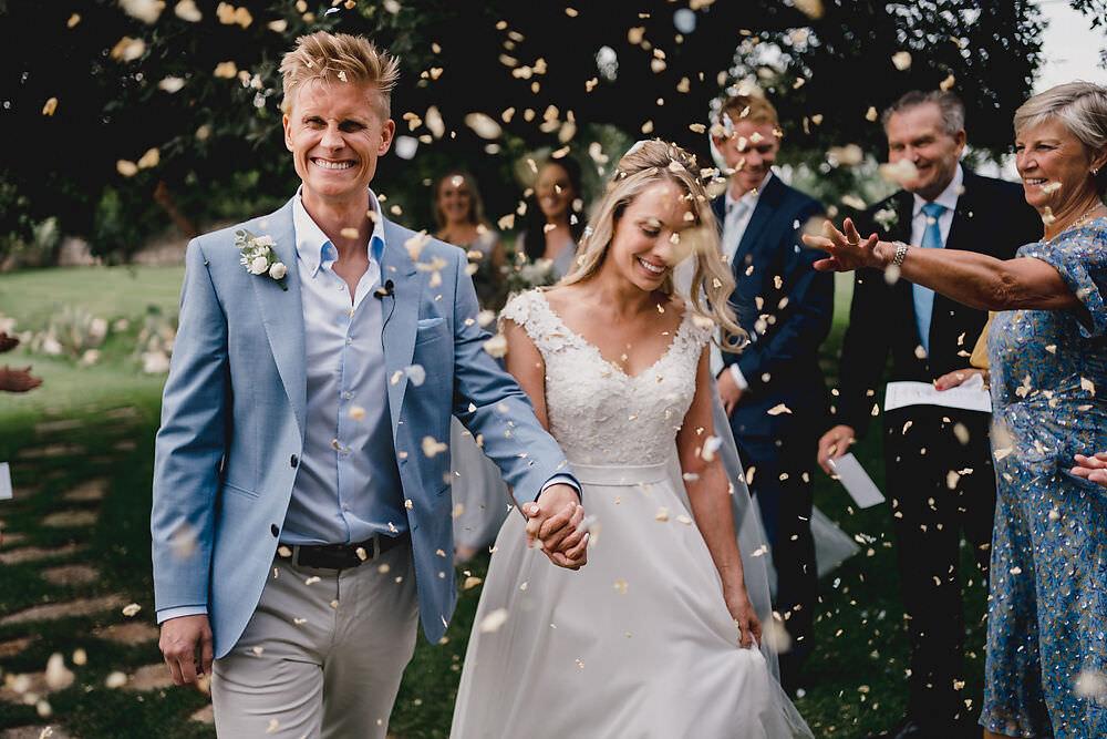 Confetti Throw Puglia Wedding MIKI Studios