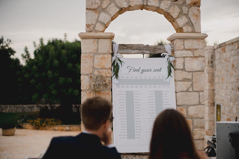 Table Plan Puglia Wedding MIKI Studios