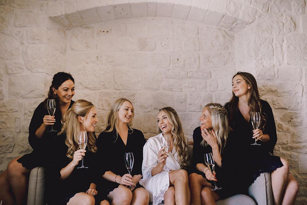 Bride Bridal Bridesmaids Dressing Gowns Robes Puglia Wedding MIKI Studios