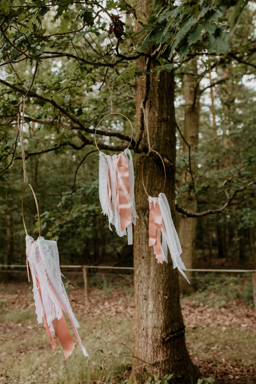 Hoop Ribbon Decor Whimsical Boho Wedding Camilla Andrea Photography