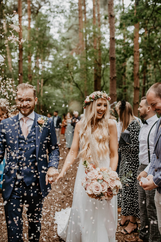 Confetti Throw Whimsical Boho Wedding Camilla Andrea Photography