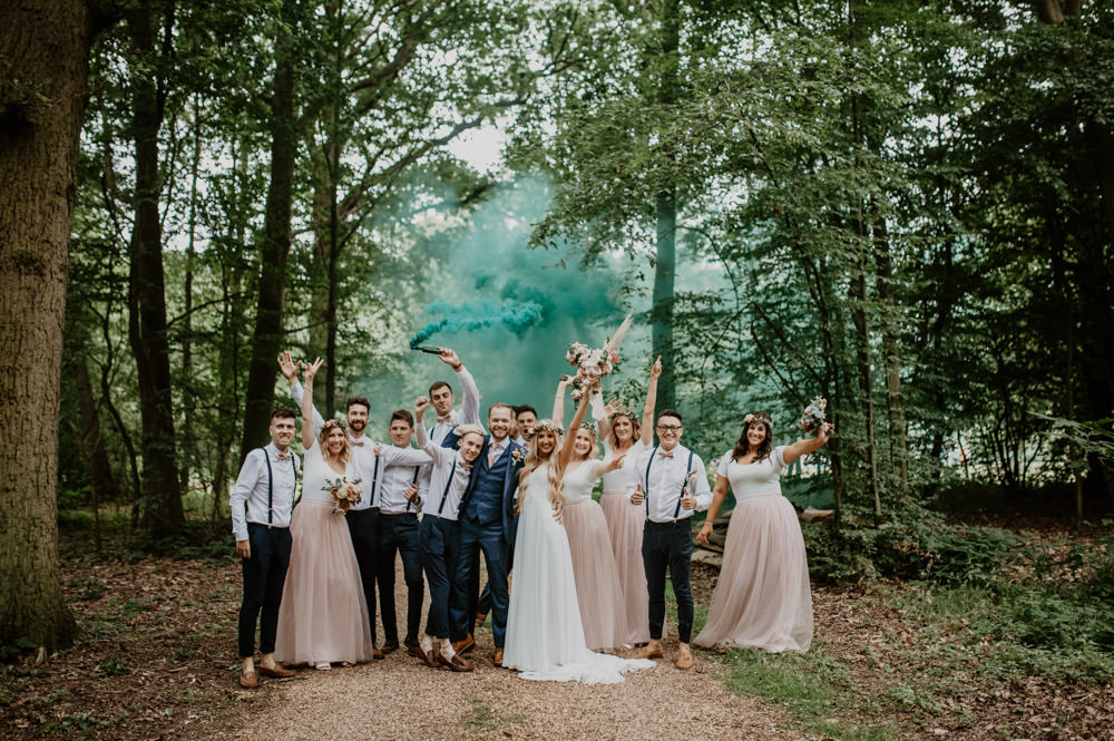 Smoke Bomb Whimsical Boho Wedding Camilla Andrea Photography