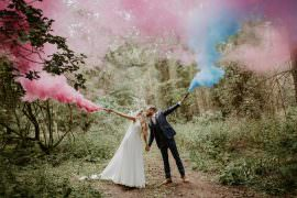 Whimsical Boho Wedding Camilla Andrea Photography Smoke Bomb