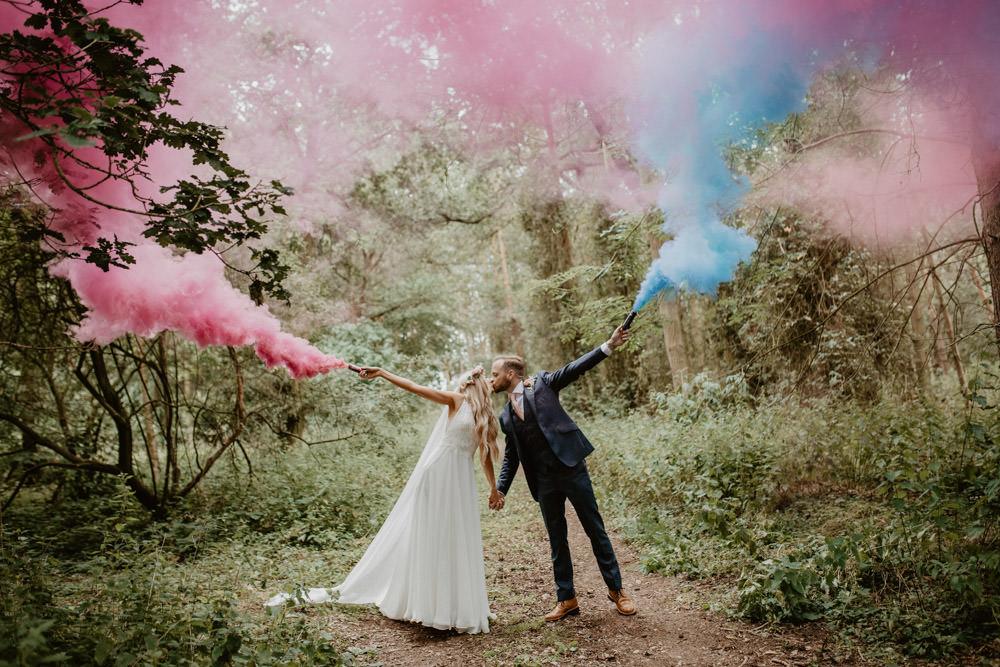 Whimsical Boho Wedding Camilla Andrea Photography Smoke Bomb