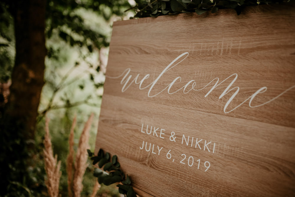 Welcome Sign Signs Signage Whimsical Boho Wedding Camilla Andrea Photography