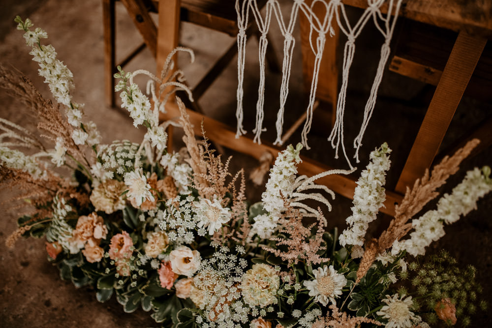 Flowers Decor Floor Meadow Whimsical Boho Wedding Camilla Andrea Photography