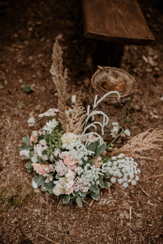 Pew End Aisle Flowers Ceremony Whimsical Boho Wedding Camilla Andrea Photography