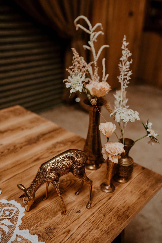 Animal Decor Flowers Whimsical Boho Wedding Camilla Andrea Photography