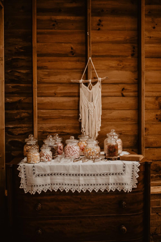 Sweets Sweetie Table Macrame Whimsical Boho Wedding Camilla Andrea Photography