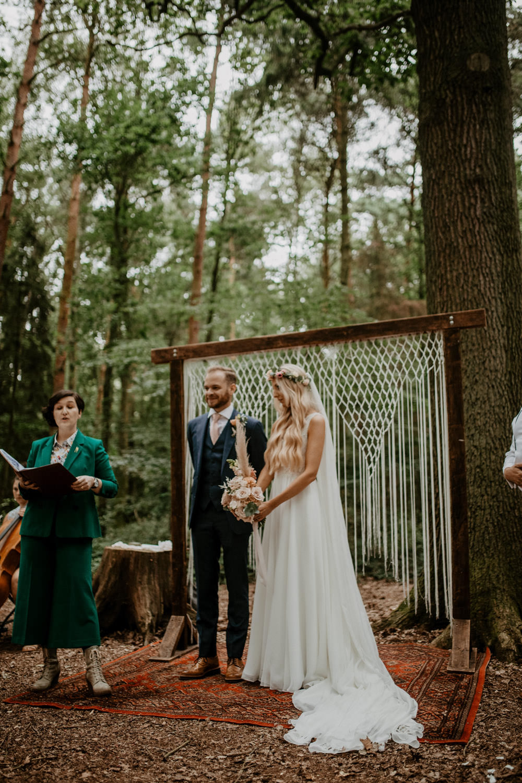Macrame Hanging Backdrop Rug Aisle Ceremony Whimsical Boho Wedding Camilla Andrea Photography