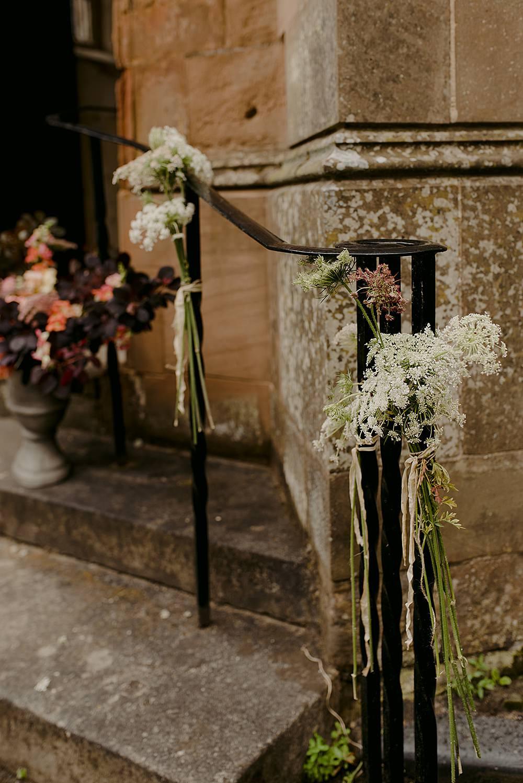Church Flowers Entrance Belbroughton Church Hall Wedding Faye Green Photo