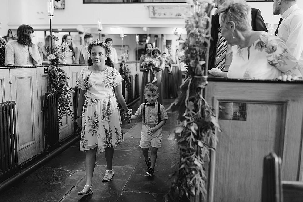 Flower Girl Page Boy Belbroughton Church Hall Wedding Faye Green Photo