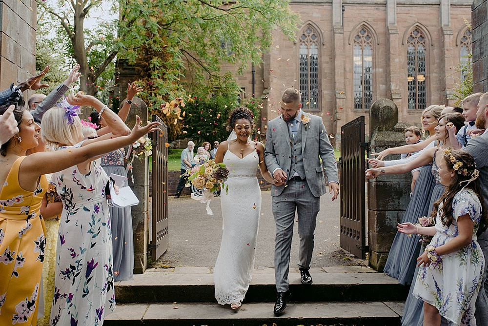 Confetti Belbroughton Church Hall Wedding Faye Green Photo