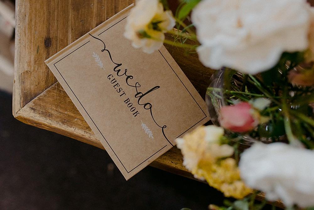 Guest Book Belbroughton Church Hall Wedding Faye Green Photo