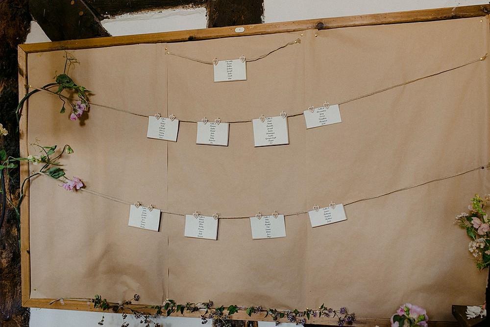 Table Plan Seating Chart Belbroughton Church Hall Wedding Faye Green Photo