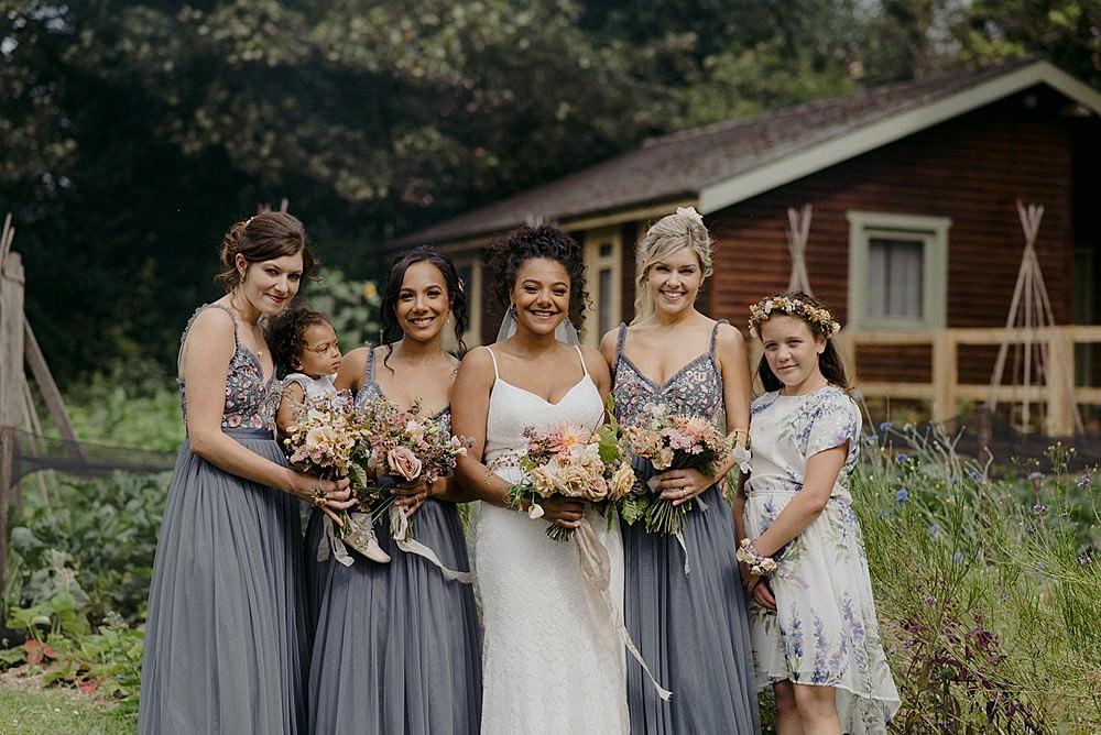 Bridesmaids Bridesmaid Dress Dresses Needle & Thread Grey Belbroughton Church Hall Wedding Faye Green Photo