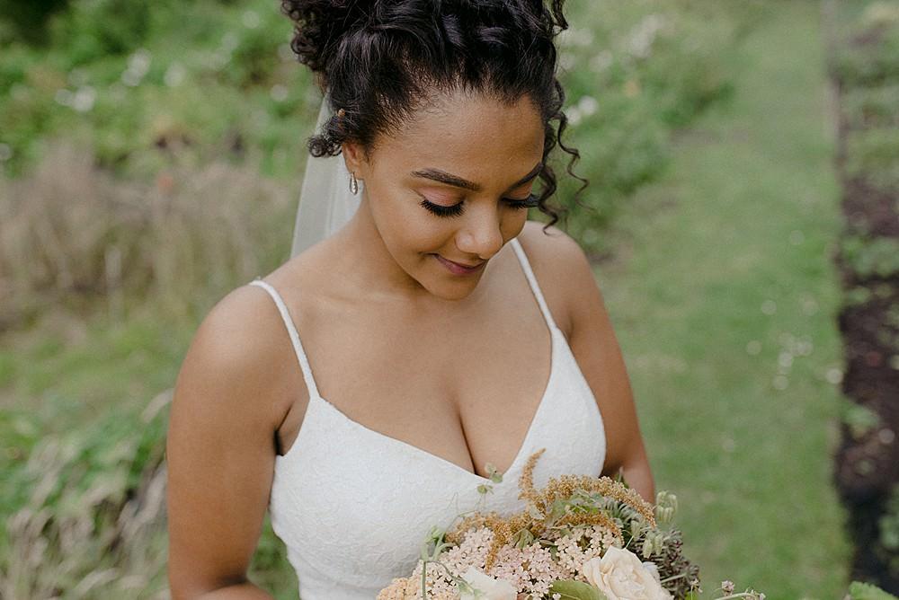 Bride Bridal Hair Make Up Belbroughton Church Hall Wedding Faye Green Photo