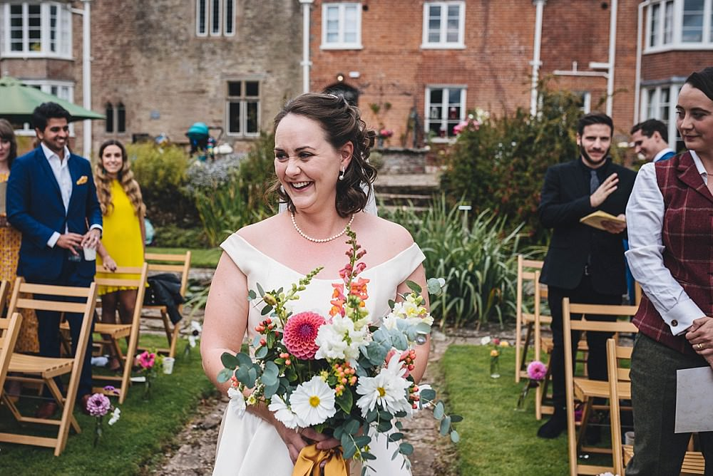 Bouquet Flowers Bride Bridal Dahlia Stocks Broadfield Court Wedding Marta May Photography