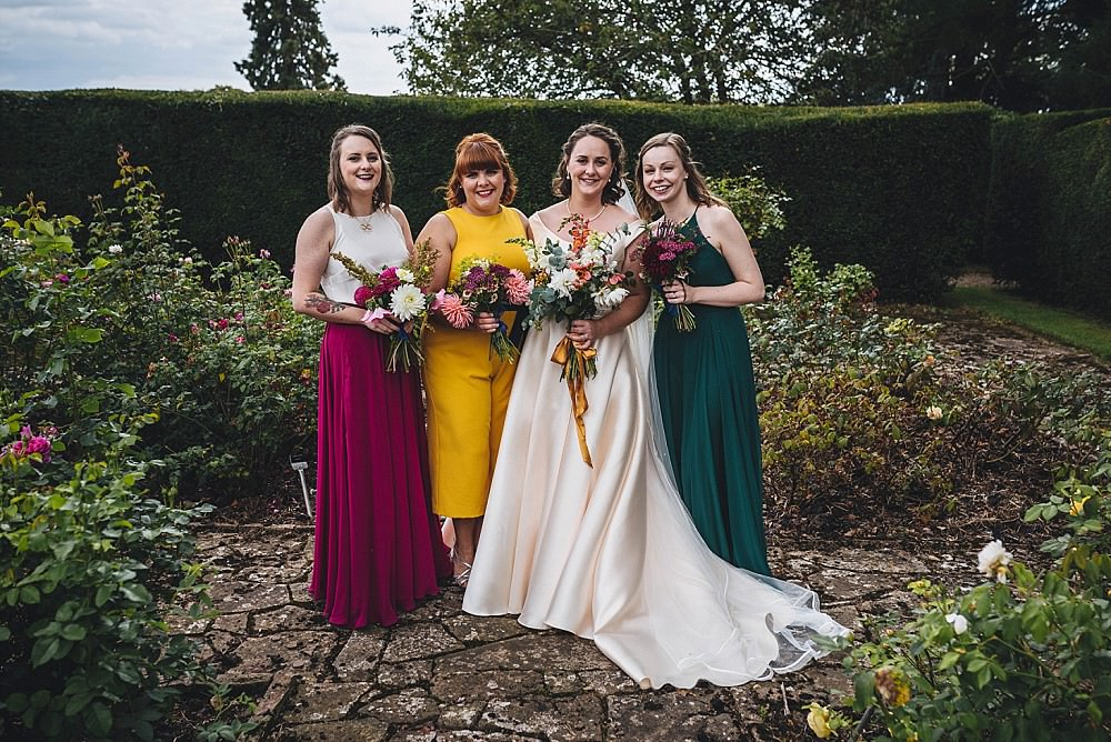 Bridesmaids Bridesmaid Dress Dresses Autumn Jewel Tone Broadfield Court Wedding Marta May Photography