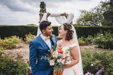 Intimate Outdoor Autumn Garden Wedding with Pretty Florals
