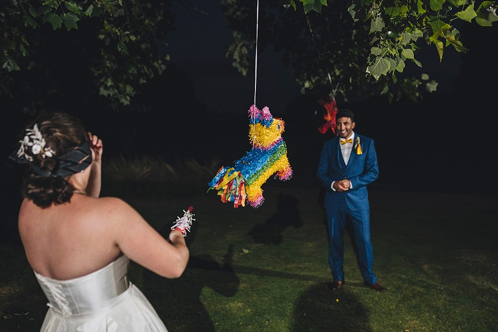 Pinata Game Broadfield Court Wedding Marta May Photography