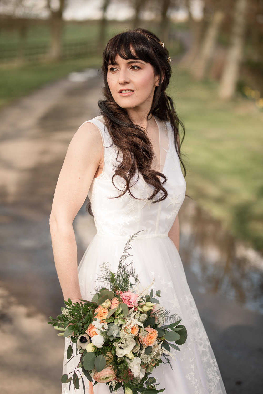 Bride Bridal Make Up Celestial Wedding Inspiration Becky Harley Photography