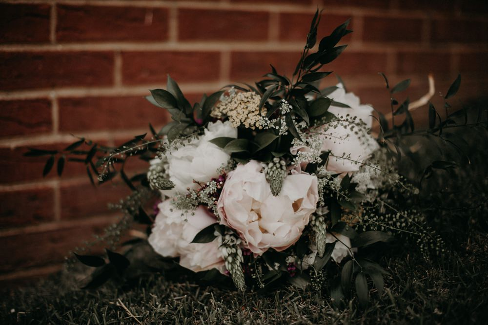 Bouquet Flowers Bride Bridal Peony Peonies Georgia Wedding Aline Marin Photography