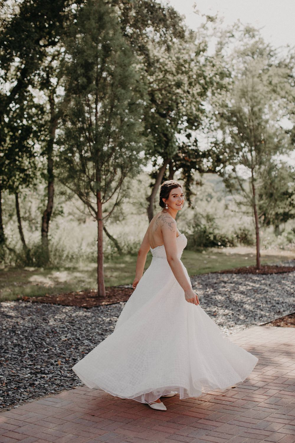 Dress Gown Bride Bridal Strapless Georgia Wedding Aline Marin Photography