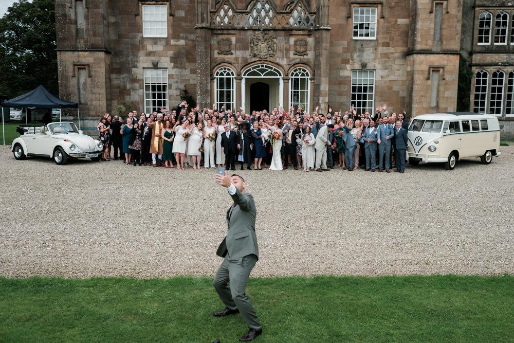 Selfie Glenarm Castle Wedding Jonathan Ryder Photography