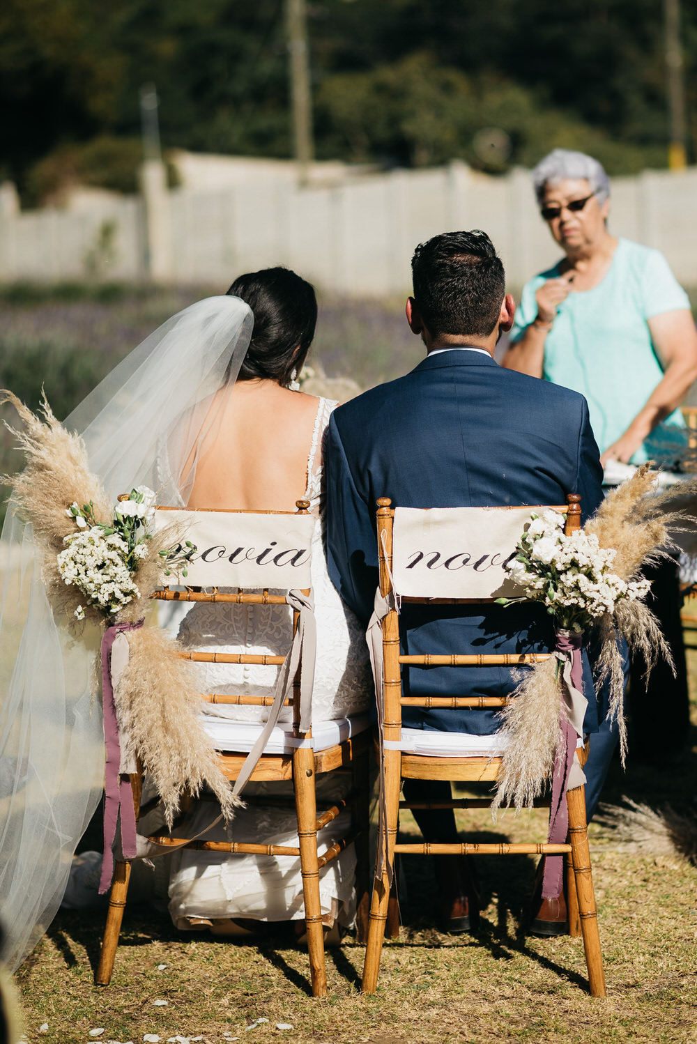 Chairs Pampas Grass Sign Ceremony Guatemala Wedding Daniel Lopez Perez Photography