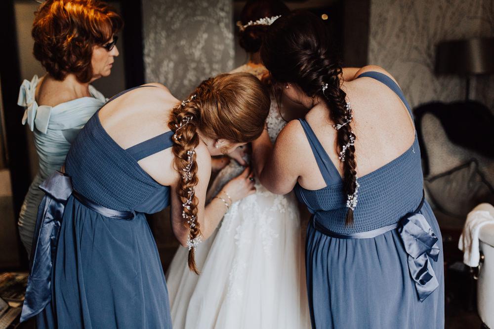Bridesmaid Hair Style Up Do Plait Braid Homemade Wedding Wyldbee Photography