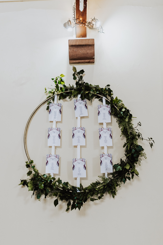 Hoop Table Plan Seating Chart Homemade Wedding Wyldbee Photography