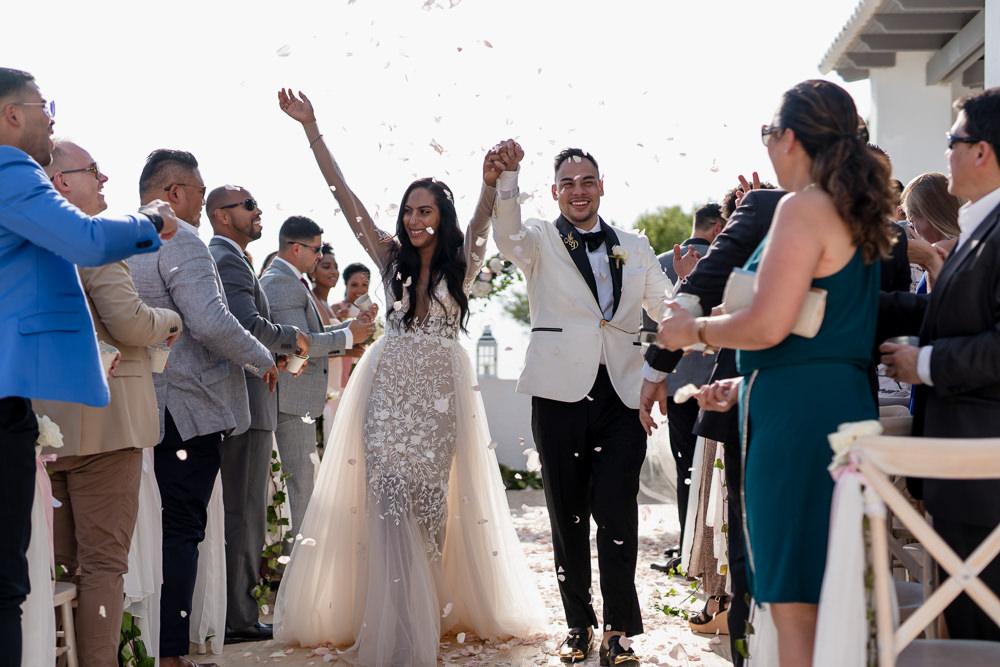 Confetti Throw Ibiza Destination Wedding David Christopher Photography