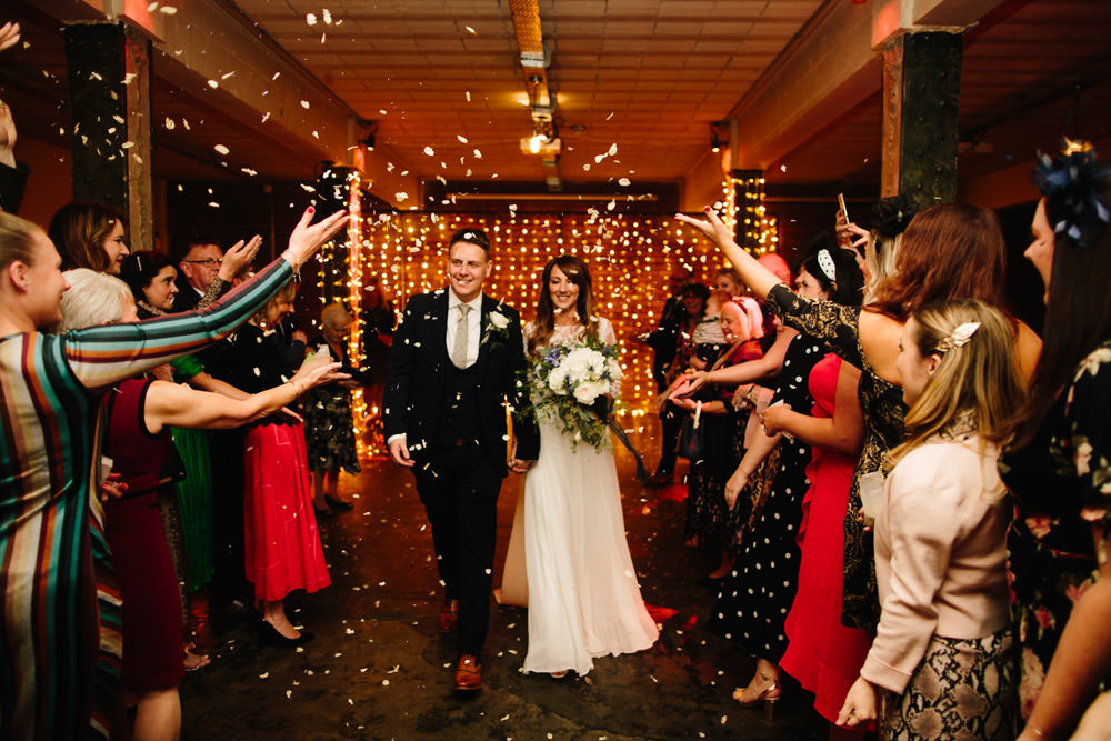 Confetti Indie Warehouse Wedding Dan Hough Photo